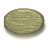 Wood Flat Oval 10/15mm Khaki Polished